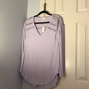 Long sleeve, tunic style T-shirt.